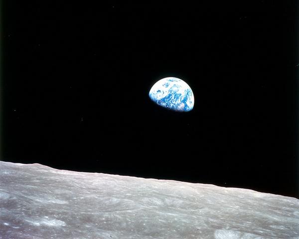 Jorden set fra Maanen