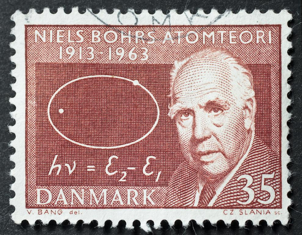 Niels Bohr frimaerke    Antonio Abrignani